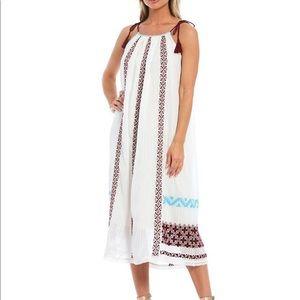 Ulla Johnson Cotton Gauze Embroidered Dress M